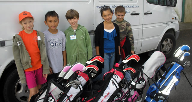 Through a grant by the Department of Defense, The First Tee provides coaching and equipment to youth with a family member currently deployed.