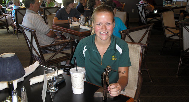 Emily shows her winning smile at last years TFTNPS Championship. This year the event will be held at Everett Golf & CC on August 26th. Qualifying tournaments are being conducted now.