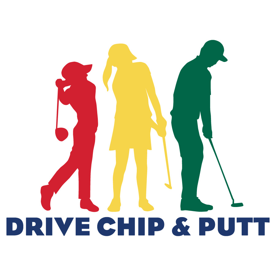 Drive chip and putt logo
